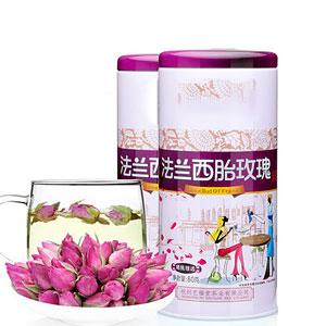 正宗粉玫瑰花茶包邮80g*2罐